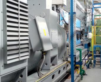 Alternateur et châssis de la centrale de Bralima - IMM - Flexible Power Solutions