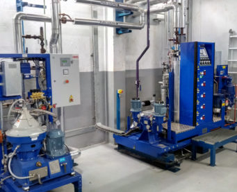 Module booster et centrifugeuse HFO de la centrale de Bralima - IMM - Flexible Power Solutions