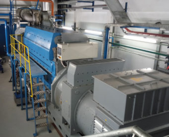 Engine room of the Bralima power plant - IMM - Flexible Power Solutions