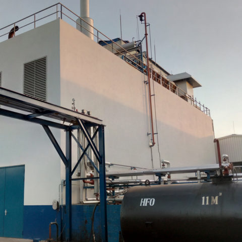 Outside view of the Bralima power plant - IMM - Flexible Power Solutions