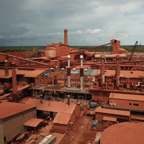 Construction of the Kamsar, Guinea Conakry power plant. IMM - Flexible Power Solutions
