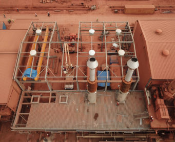 Construction de la centrale électrique de Kamsar en Guinée Conakry - IMM - Flexible Power Solutions