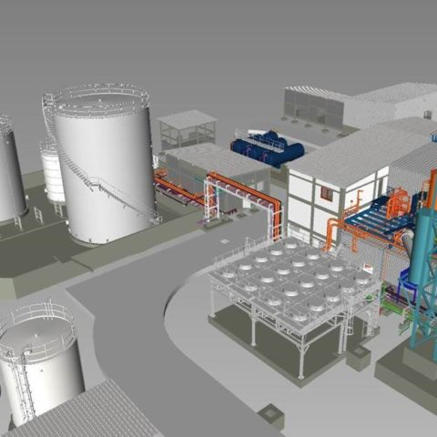 3D View of the Fada (Burkina Faso) power plant - IMM Flexible Power Solutions