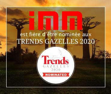 IMM est fière d'être nominée pour la 3ème fois aux Trends Gazelles pour Bruxelles