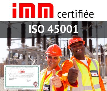 IMM certifiée ISO 45001
