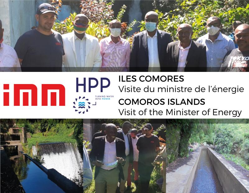 Visite ministérielle des sites IMM de réhabilitation de centrales hydroélectriques aux Iles Comores