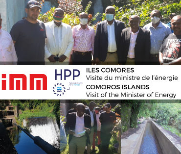 Ministerial visit to IMM rehabilitation sites of hydroelectric plants in the Comoros Islands