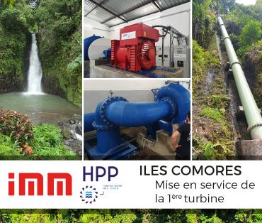 Mise en service de la première turbine à la centrale de Lingoni sur l'île d'Anjouan dans les Comores par le consortion IMM-HPP